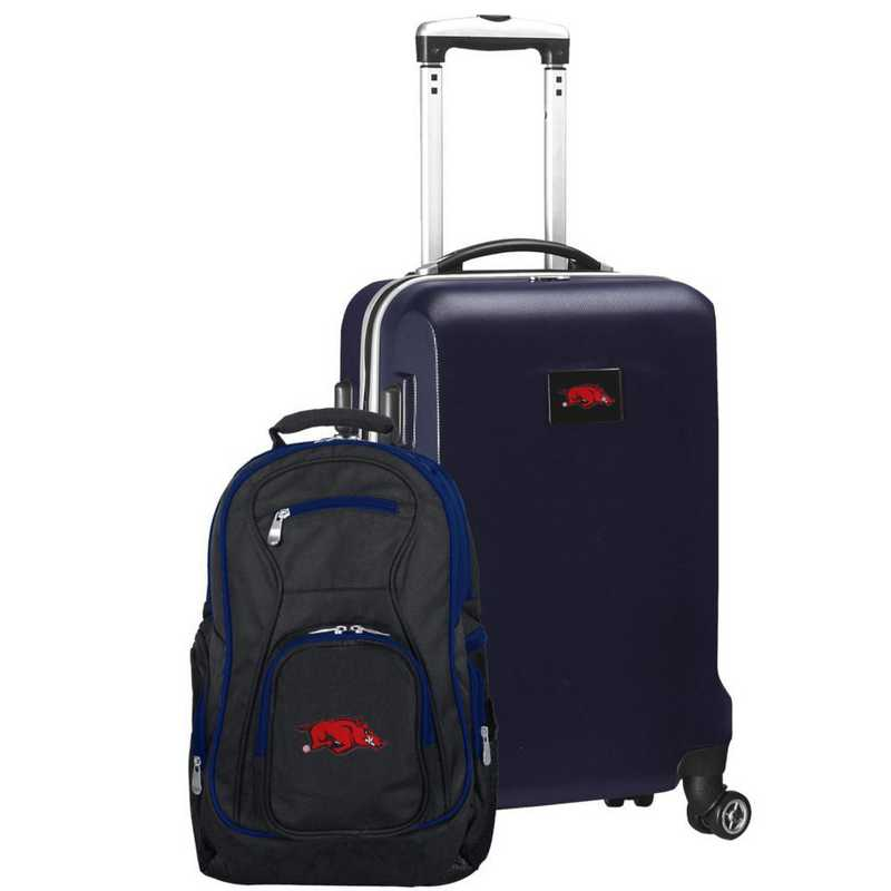 CLARL104-NAVY: Arkansas Razorbacks Deluxe 2PC BP / Carry on Set