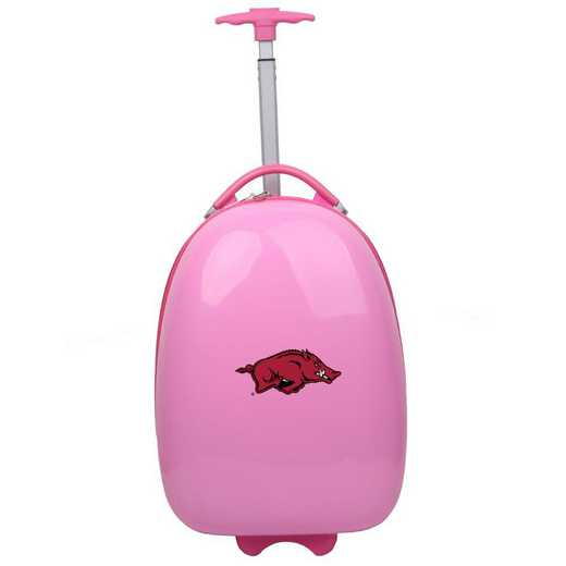 CLARL601-PINK: NCAA Arkansas Razorbacks Kids Luggage