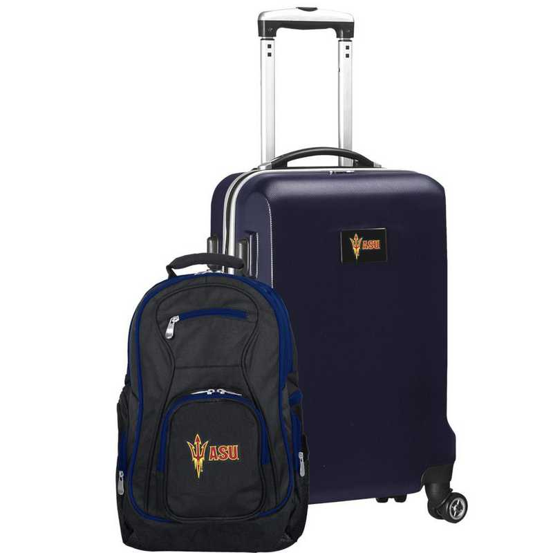 CLAZL104-NAVY: Arizona State Sun Devils Deluxe 2PC BP / Carry on Set
