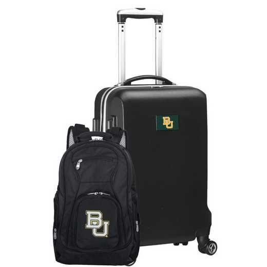 CLBAL104-BLACK: Baylor Bears Deluxe 2PC BP / Carry on Set
