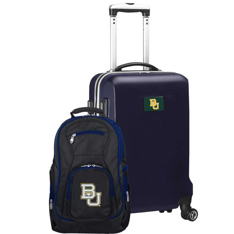 CLBAL104-NAVY: Baylor Bears Deluxe 2PC BP / Carry on Set