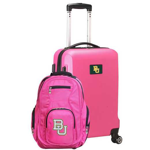 CLBAL104-PINK: Baylor Bears Deluxe 2PC BP / Carry on Set