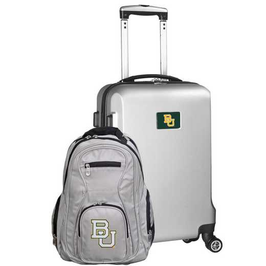 CLBAL104-SILVER: Baylor Bears Deluxe 2PC BP / Carry on Set
