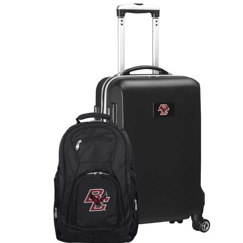 CLBCL104-BLACK: Boston College Eagles Deluxe 2PC BP / Carry on Set