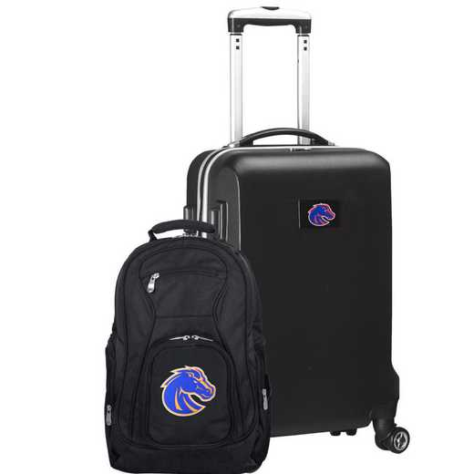 CLBSL104-BLACK: Boise State Broncos Deluxe 2PC BP / Carry on Set
