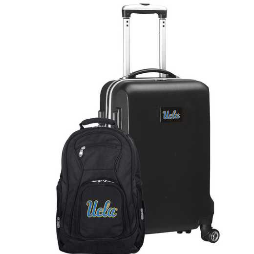 CLCAL104-BLACK: UCLA Bruins Deluxe 2PC BP / Carry on Set