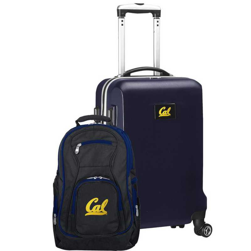 CLCBL104-NAVY: California Bears Deluxe 2PC BP / Carry on Set