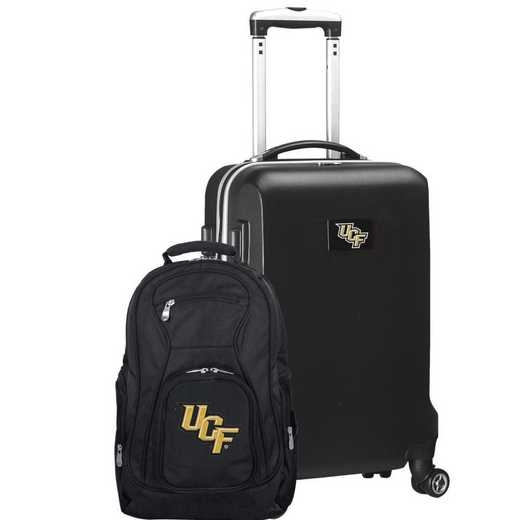 CLCFL104-BLACK: Central Florida Golden Knights Deluxe 2PC BP / Carry on Set