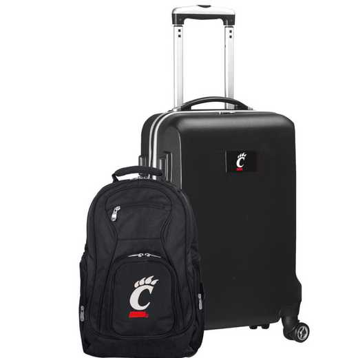 CLCIL104-BLACK: Cincinnati Bearcats Deluxe 2PC BP / Carry on Set