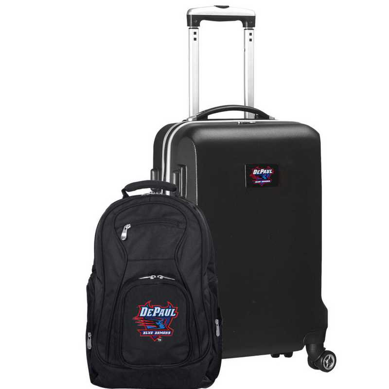CLDPL104-BLACK: Depaul Deluxe 2PC BP / Carry on Set