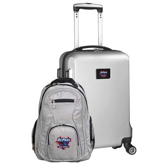 CLDPL104-SILVER: Depaul Deluxe 2PC BP / Carry on Set