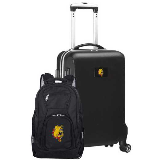 CLFEL104-BLACK: Ferris State Bulldogs Deluxe 2PC BP / Carry on Set
