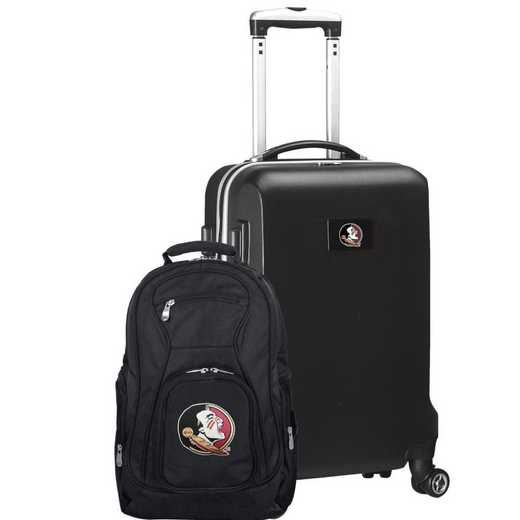 CLFSL104-BLACK: Florida State Seminoles Deluxe 2PC BP / Carry on Set