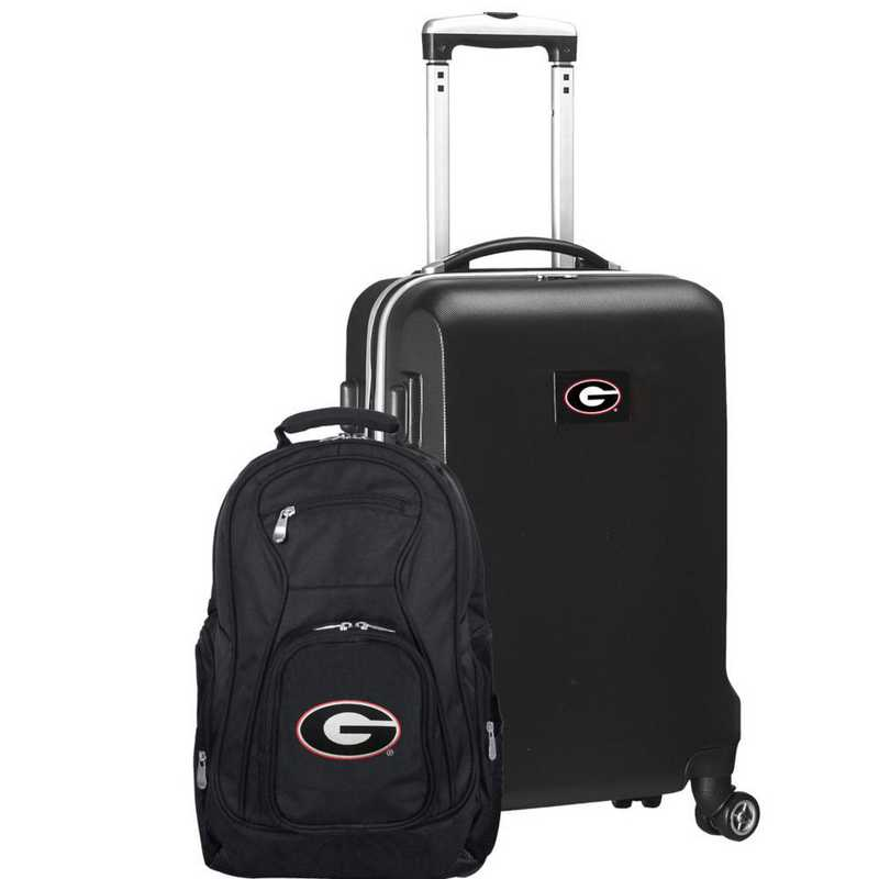 CLGAL104-BLACK: Georgia Bulldogs Deluxe 2PC BP / Carry on Set