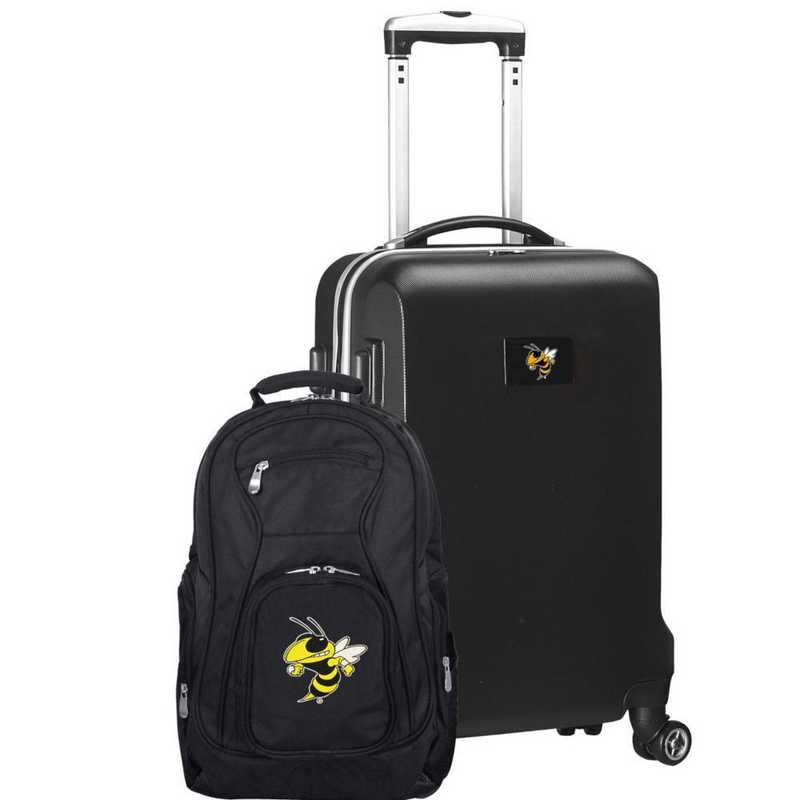 CLGTL104-BLACK: Georgia Tech Yellow Jackets Deluxe 2PC BP / Carry on Set