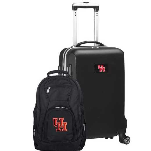 CLHUL104-BLACK: Houston Cougars Deluxe 2PC BP / Carry on Set