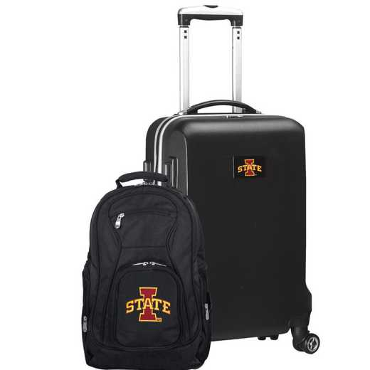 CLISL104-BLACK: Iowa State Cyclones Deluxe 2PC BP / Carry on Set