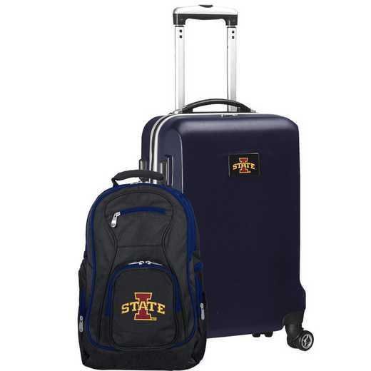 CLISL104-NAVY: Iowa State Cyclones Deluxe 2PC BP / Carry on Set