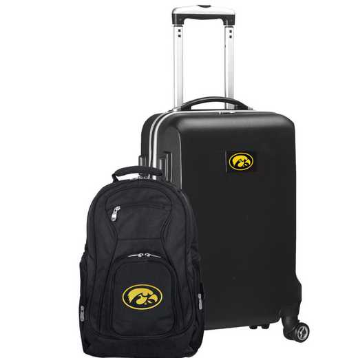 CLIWL104-BLACK: Iowa Hawkeyes Deluxe 2PC BP / Carry on Set