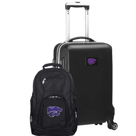 CLKSL104-BLACK: Kansas State Wildcats Deluxe 2PC BP / Carry on Set