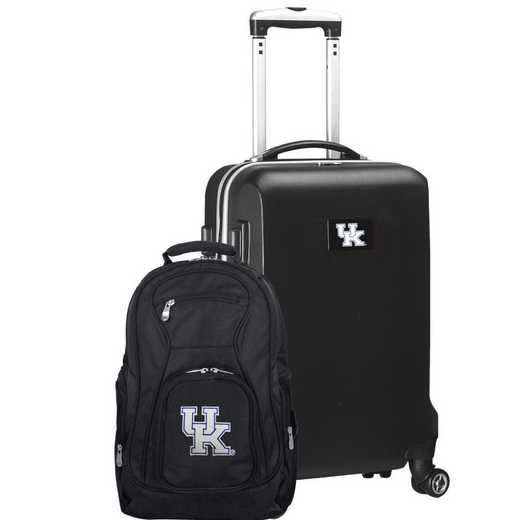 CLKYL104-BLACK: Kentucky Wildcats Deluxe 2PC BP / Carry on Set