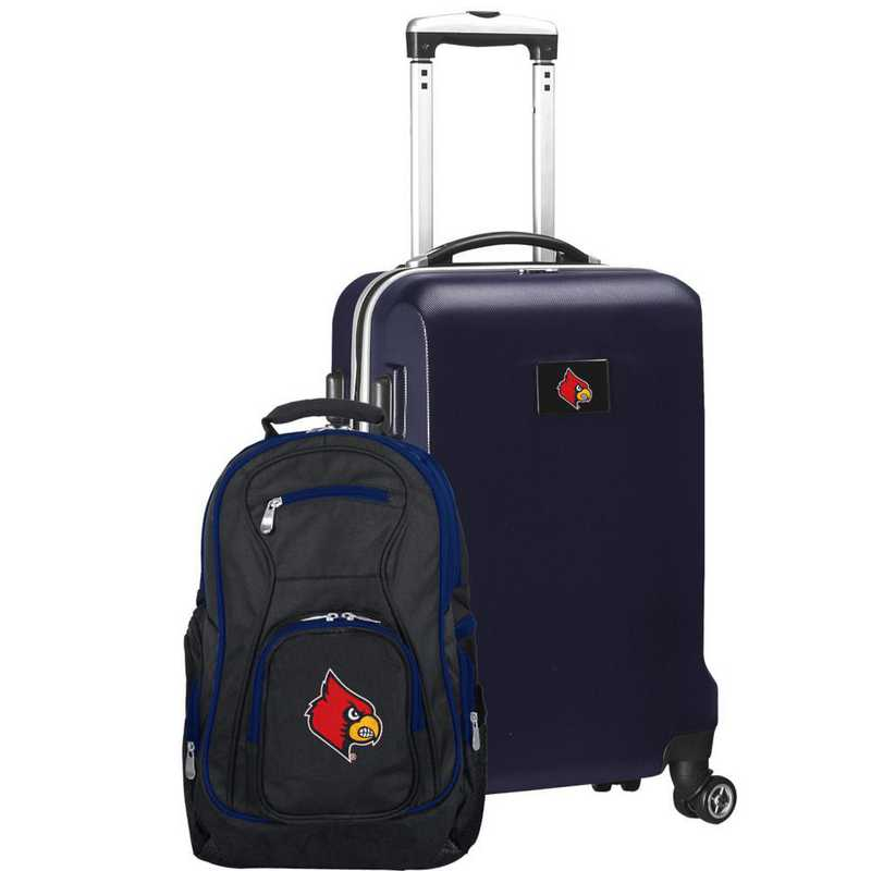 CLLOL104-NAVY: Louisville Cardinals Deluxe 2PC BP / Carry on Set