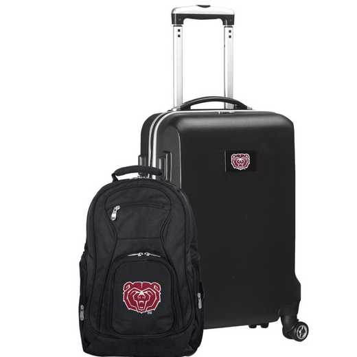 CLMBL104-BLACK: Missouri State UNIV Bears Deluxe 2PC BP / Carry on Set