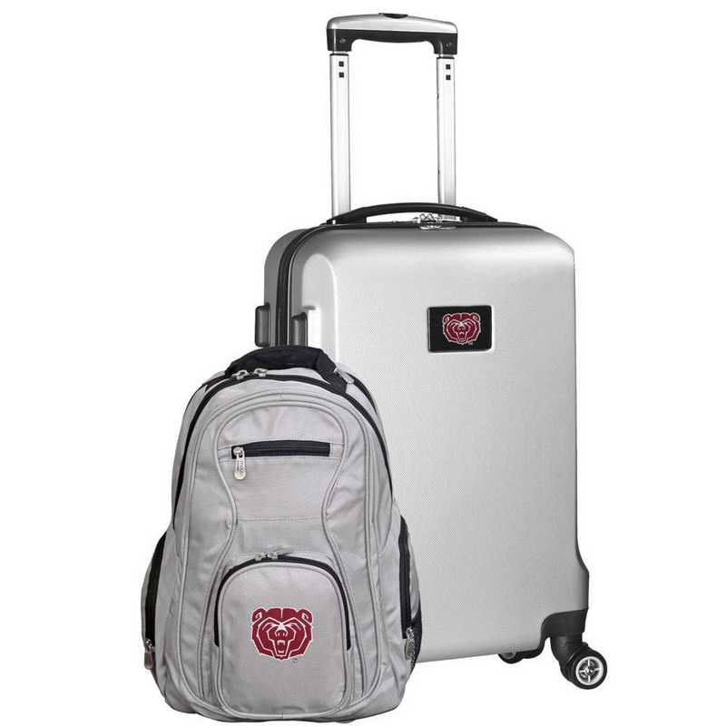 CLMBL104-SILVER: Missouri State UNIV Bears Deluxe 2PC BP / Carry on Set