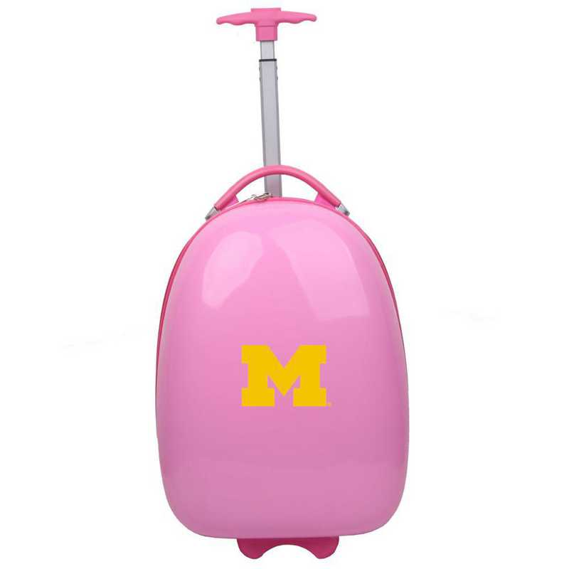 CLMCL601-PINK: NCAA Michigan Wolverines Kids Luggage
