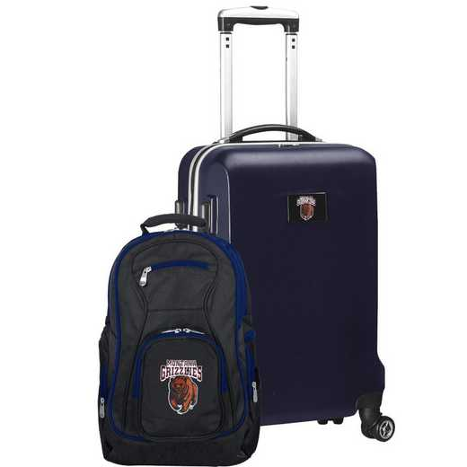 CLMGL104-NAVY: Montana Grizzlies Deluxe 2PC BP / Carry on Set