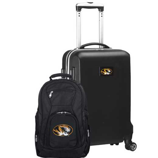 CLMOL104-BLACK: Missouri Tigers Deluxe 2PC BP / Carry on Set