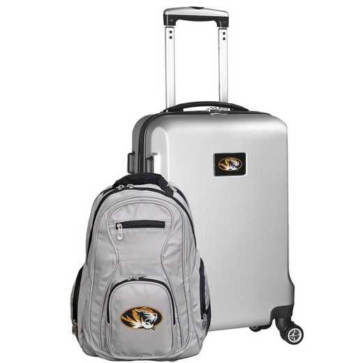 CLMOL104-SILVER: Missouri Tigers Deluxe 2PC BP / Carry on Set