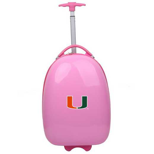 CLMUL601-PINK: NCAA Miami Hurricanes Kids Luggage