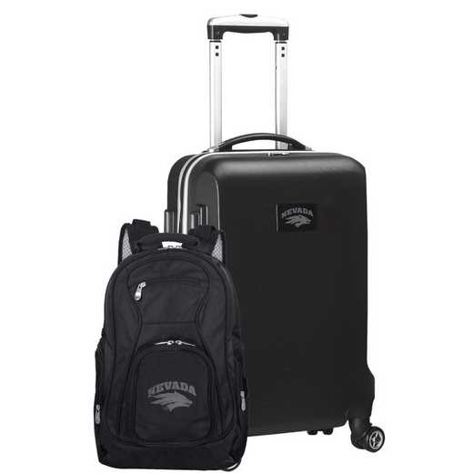 CLNAL104-BLACK: Nevada Wolf Pack Deluxe 2PC BP / Carry on Set