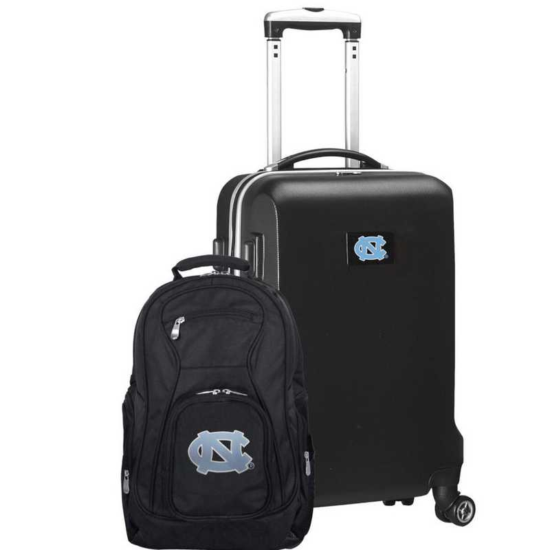 CLNCL104-BLACK: UNC Tar Heels Deluxe 2PC BP / Carry on Set