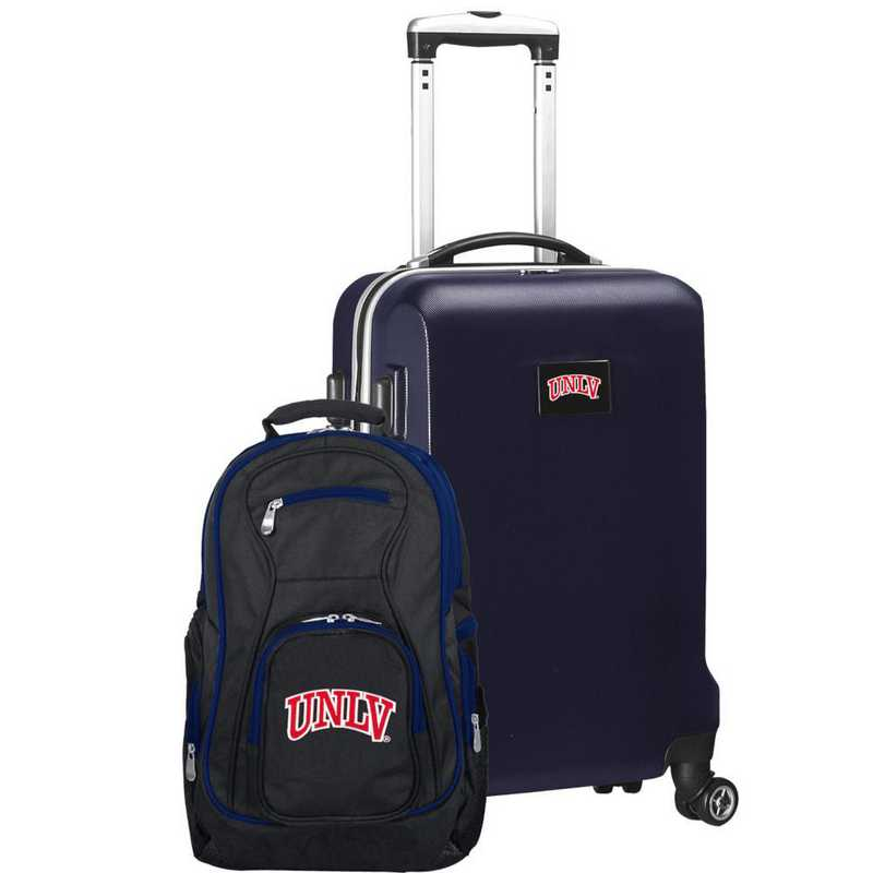 CLNLL104-NAVY: UNLV Rebels Deluxe 2PC BP / Carry on Set
