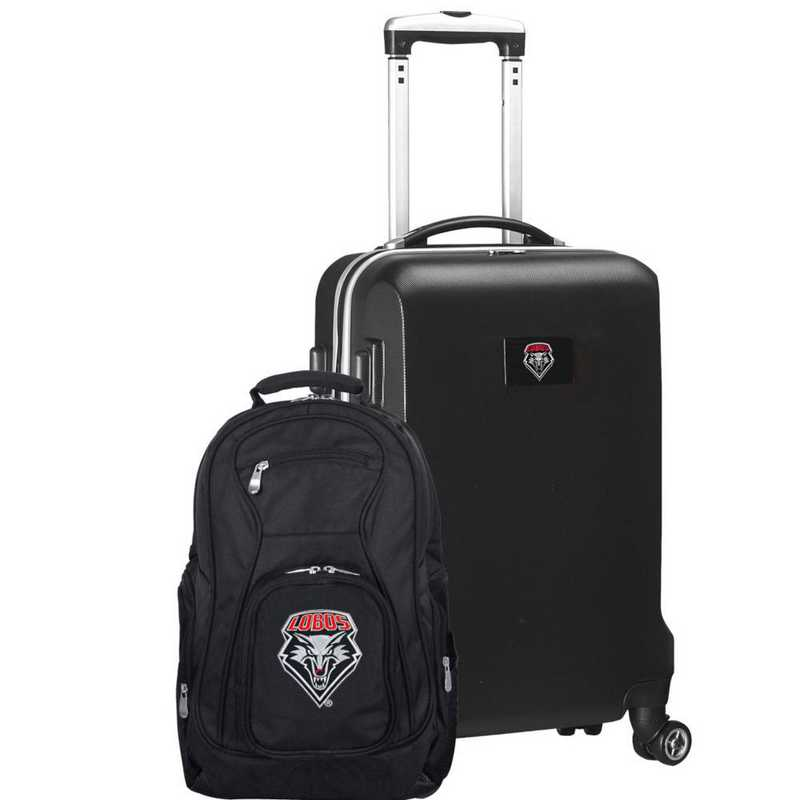 CLNML104-BLACK: New Mexico Lobos Deluxe 2PC BP / Carry on Set