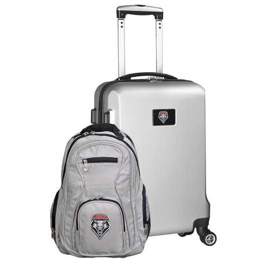 CLNML104-SILVER: New Mexico Lobos Deluxe 2PC BP / Carry on Set