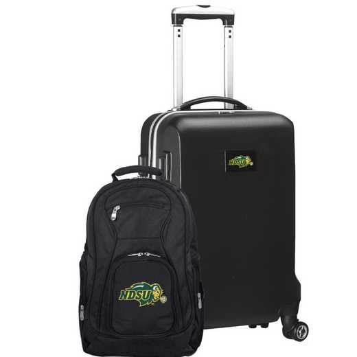 CLNUL104-BLACK: North Dakota State Bison Deluxe 2PC BP / Carry on Set
