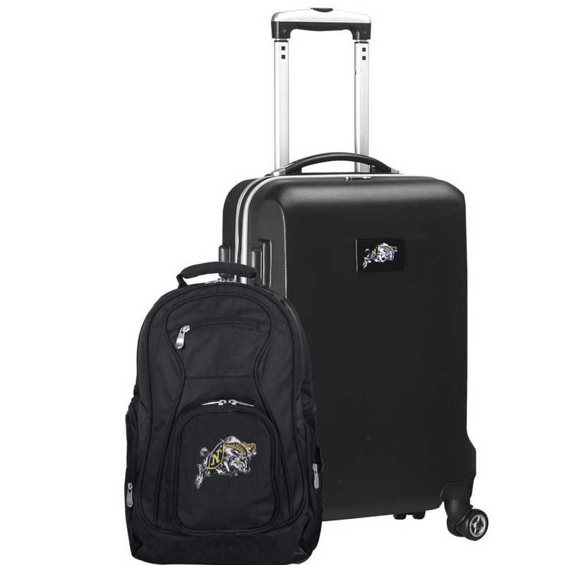 CLNVL104-BLACK: Navy Midshipmen Deluxe 2PC BP / Carry on Set