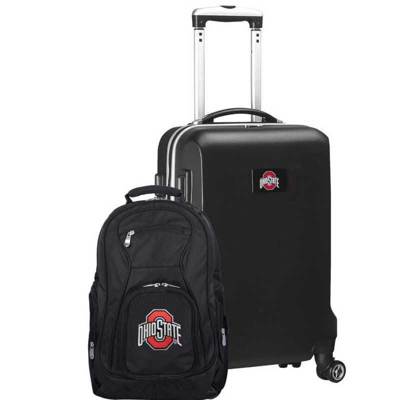 CLOSL104-BLACK: Ohio State UNIV Buckeyes Deluxe 2PC BP / Carry on Set