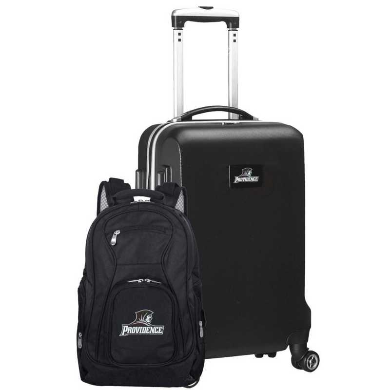 CLPCL104-BLACK: Providence College Deluxe 2PC BP / Carry on Set