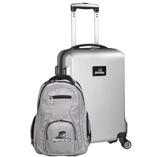 CLPCL104-SILVER: Providence College Deluxe 2PC BP / Carry on Set