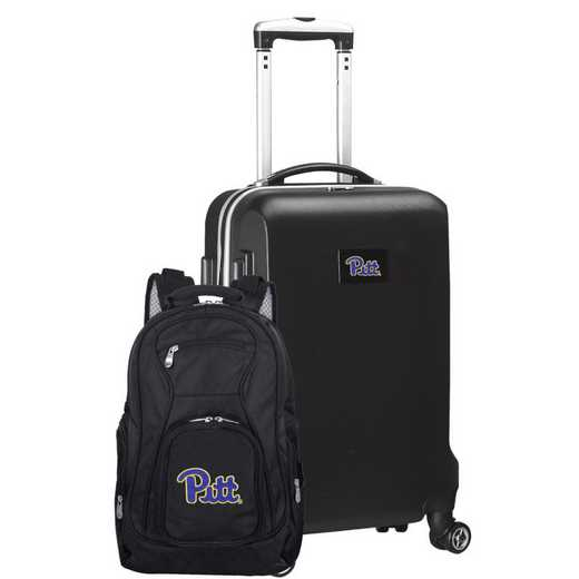 CLPIL104-BLACK: Pittsburgh Panthers Deluxe 2PC BP / Carry on Set