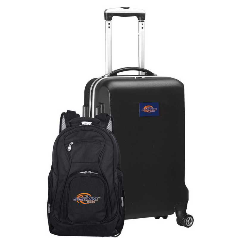 CLPPL104-BLACK: Pepperdine UNIV Waves Deluxe 2PC BP / Carry on Set