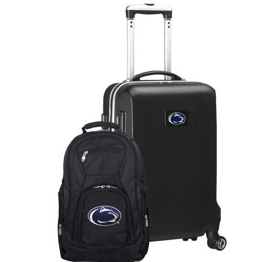 CLPSL104-BLACK: Penn State Nittany Lions Deluxe 2PC BP / Carry on Set