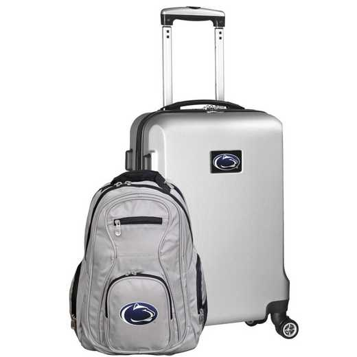 CLPSL104-SILVER: Penn State Nittany Lions Deluxe 2PC BP / Carry on Set