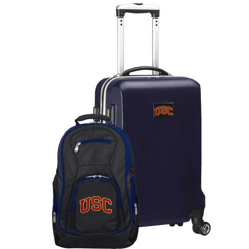 CLSCL104-NAVY: Southern Cal Trojans Deluxe 2PC BP / Carry on Set