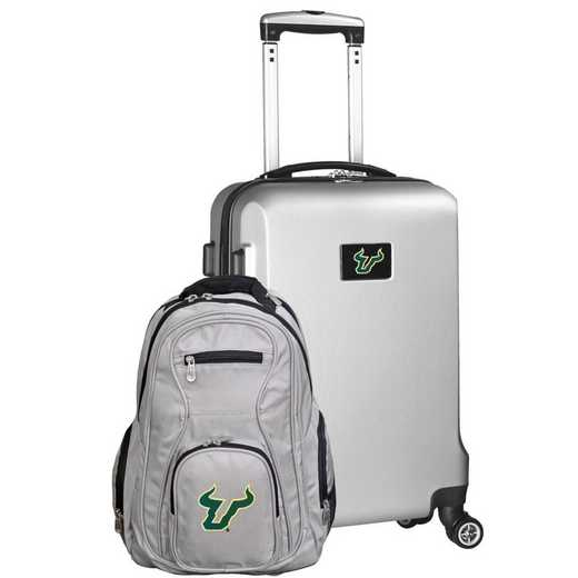CLSFL104-SILVER: South Florida Bulls Deluxe 2PC BP / Carry on Set