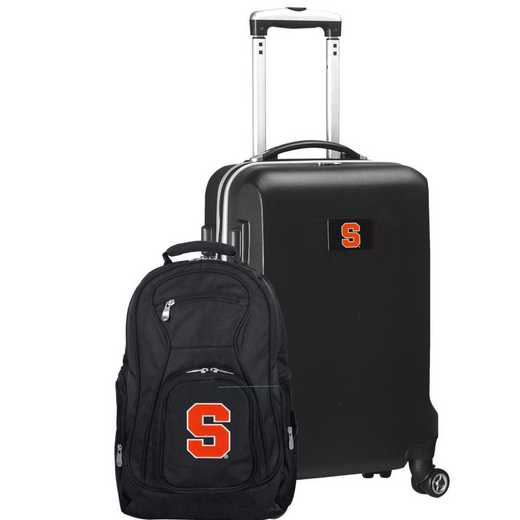 CLSYL104-BLACK: Syracuse Orange Deluxe 2PC BP / Carry on Set